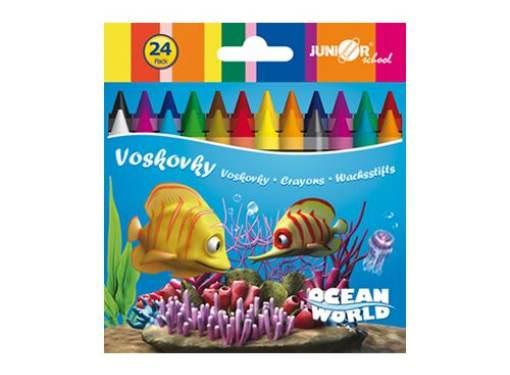 Voskovky 24 ks Ocean Word