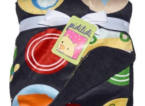 Detská deka obojstranná čierna
