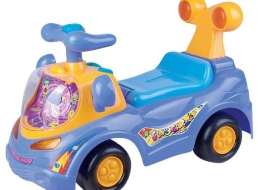 Odrážadlo FUNNY CAR fialové