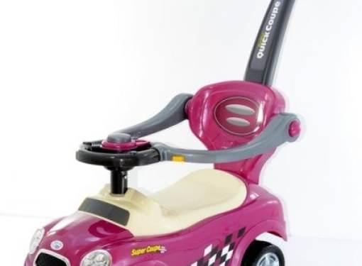 Odrážadlo 3v1 AUTO ružové