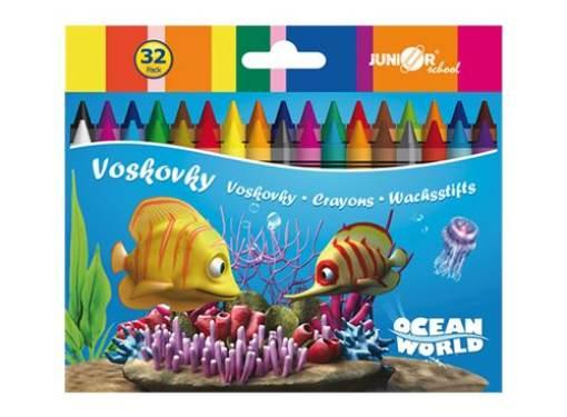 Voskovky 32 ks Ocean Word