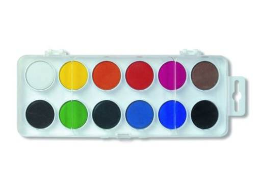 Vodové farby 12 ks