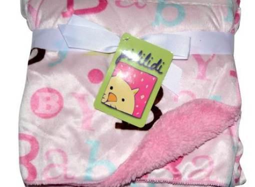 Detská deka obojstranná ružová