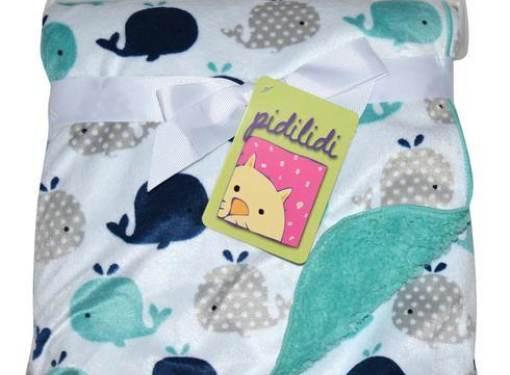 Detská deka obojstranná zelená