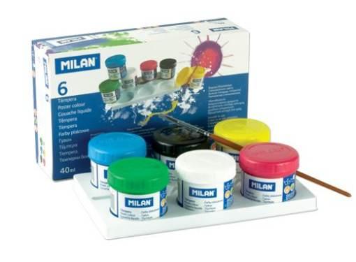 Temperové farby 40 ml- 6 ks