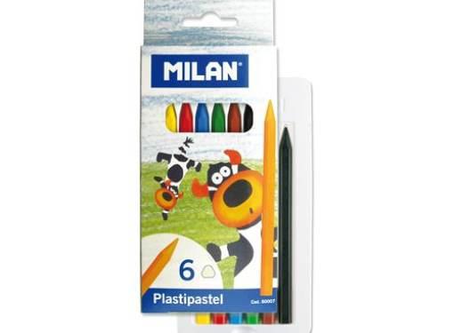 Plastické pastelky - 6 ks