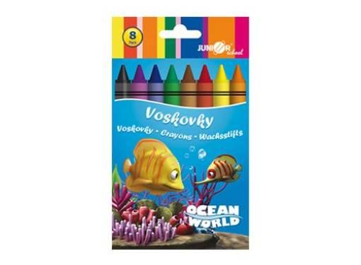 Voskovky 8 ks Ocean Word
