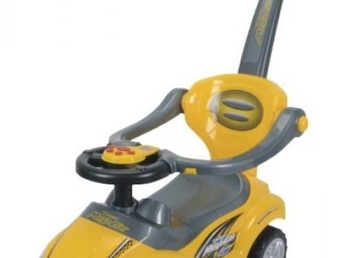 Odrážadlo 3v1 AUTO žlté