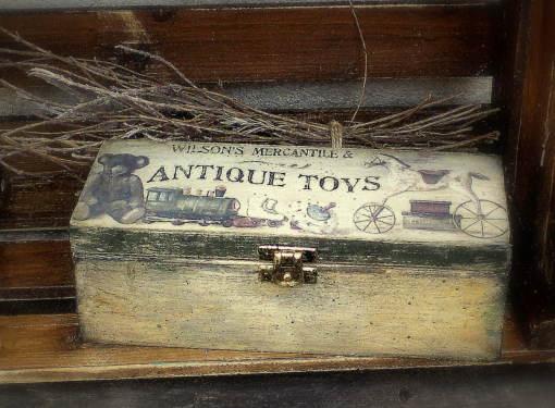 Krabička na čaj s detským motívom