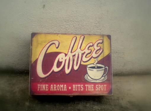 Krabička s priečinkami s motívom kávy