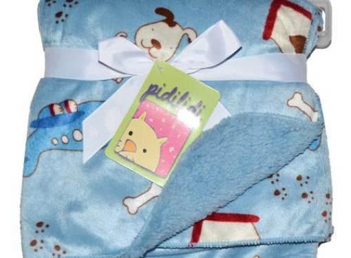 Detská deka obojstranná modrá