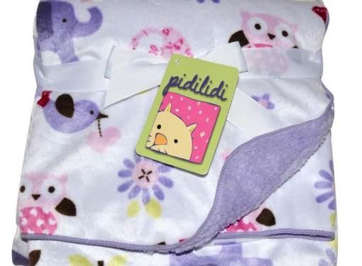 Detská deka obojstranná fialová