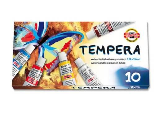 Temperové farby 10 ks